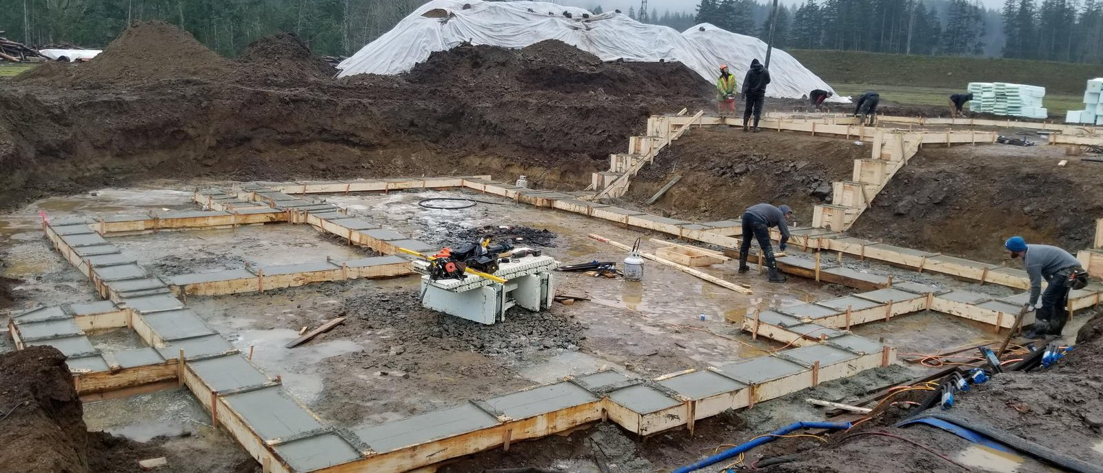 McMann Manor-Pour Day for the footings